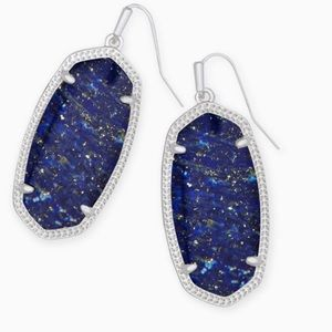 NWOT Kendra Scott Elle Earrings in Blue Lapis